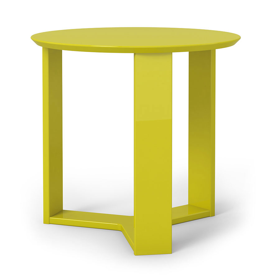 Markel Modern Yellow End Table