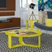 Markel Modern Yellow End Table and Coffee Table