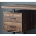 Markham Contemporary Brown + Black Desk w/ Storage