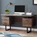 Markham Modern Brown + Black Desk