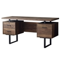 Markham Modern Brown + Black Desk w/ Storage