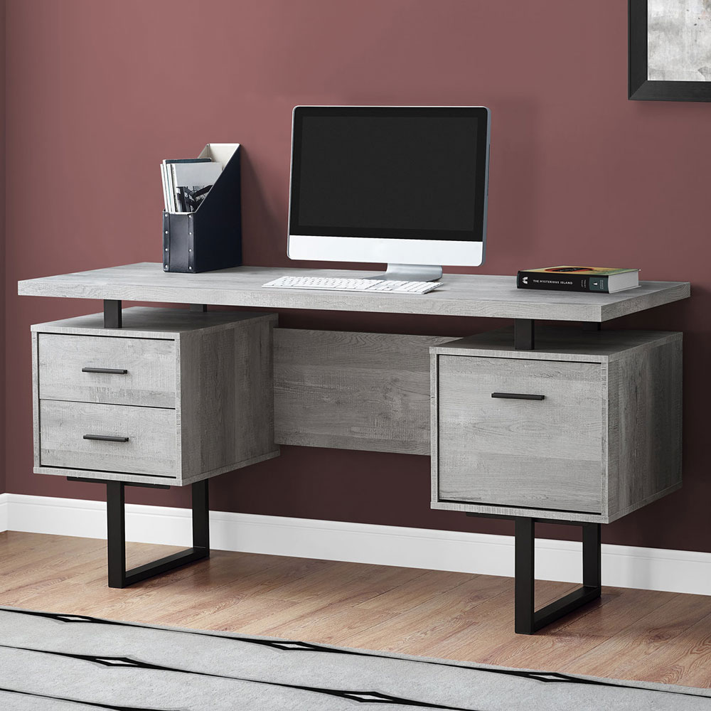Modern Desks Markham Grey Black Desk Eurway Modern