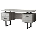 Markham Modern Grey + Black Desk w/ Storage