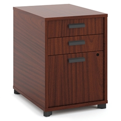 Marlin Modern Chestnut 3-Drawer File Pedestal