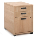Marlin Modern Wheat-Colored 3-Drawer File Pedestal