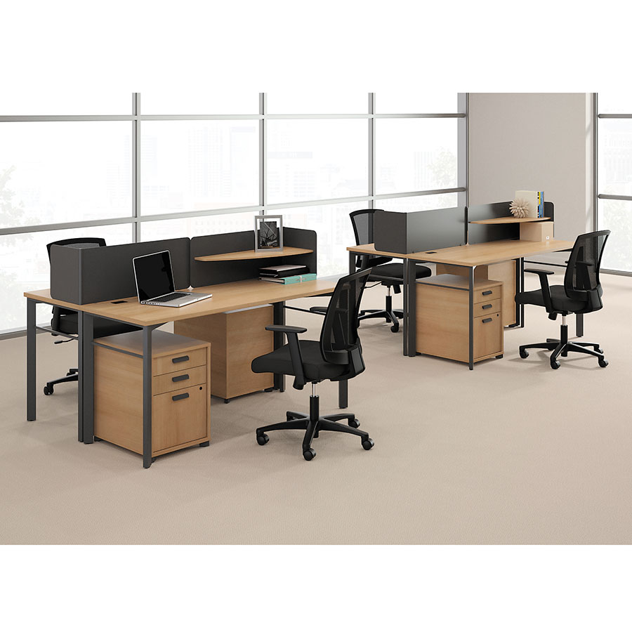 ... Marlin Modern Wheat Colored Desks With Storage ...