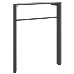 Marlin Modern Desk Leg - Gray Metallic
