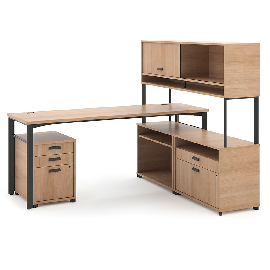 Marlin 72 Inch Modern Desk Collection In Wheat