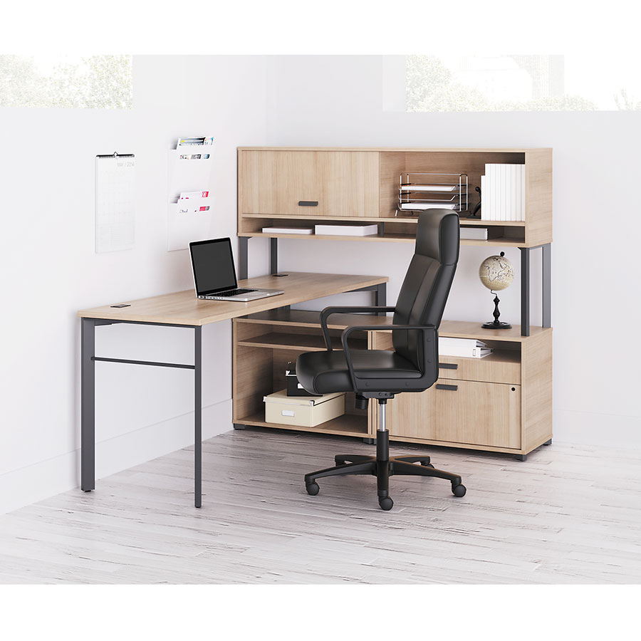 ... Marlin Contemporary 72 Inch Desk Collection In Wheat ...