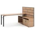 Marlin Modern Wheat-Colored Associate Desk Set