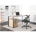 Marlin Modern Desk + File Cabinet in Wheat