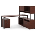 Marlin Modern Chestnut Director Desk Set