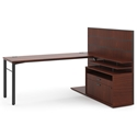 Marlin Modern Chestnut Manager Desk Set