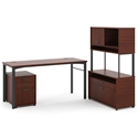 Marlin Modern Chestnut Reception Desk Set