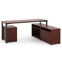 Marlin Modern Chestnut Supervisor Desk Set