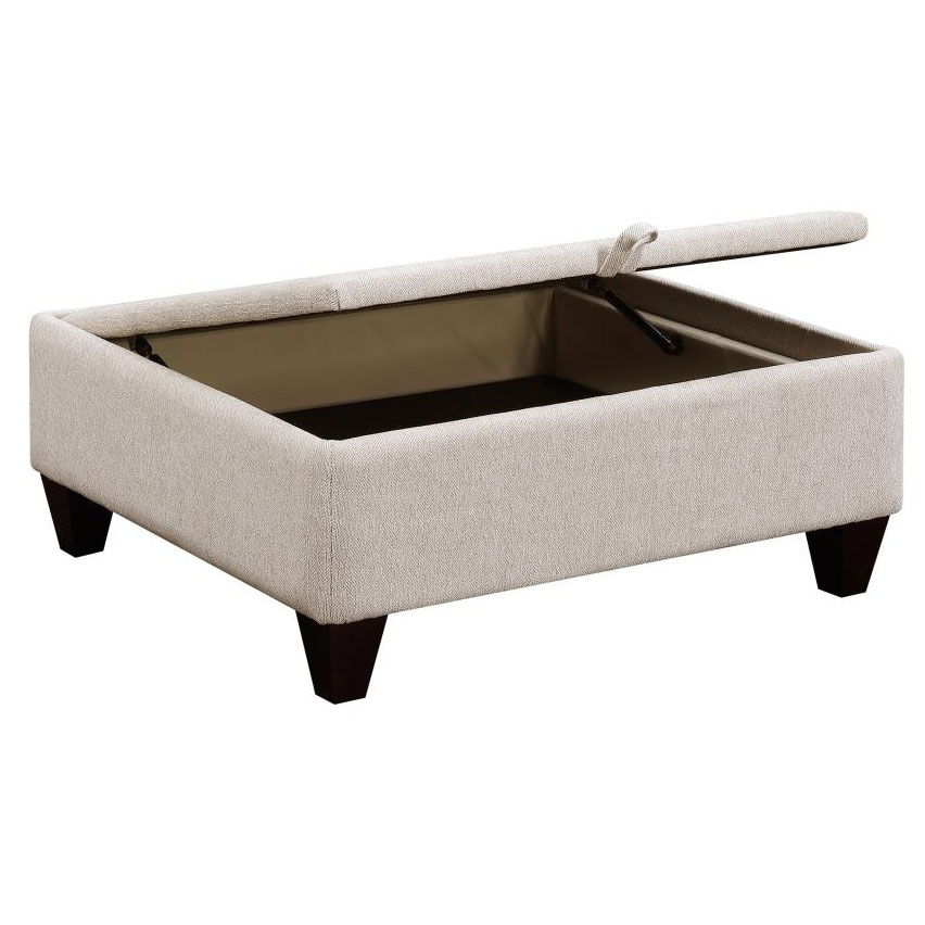 ... Marseille Contemporary Sectional   Storage Ottoman ...