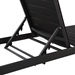 Marta Black Modern Ribbed Mesh Outdoor Chaise Lounge