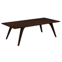 Martin Modern Rectangular Strata Walnut Cocktail Table by Saloom