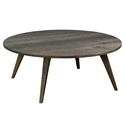 Martin Modern Round Etched Nantucket Cocktail Table by Saloom