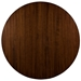 Martin Modern Round Strata Walnut Cocktail Table by Saloom - Top View