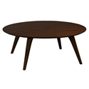Martin Modern Round Strata Walnut Cocktail Table by Saloom