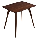 Martin Modern Strata Walnut Rectangular End Table by Saloom