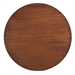 Martin Modern Strata Walnut Round End Table by Saloom - Top View