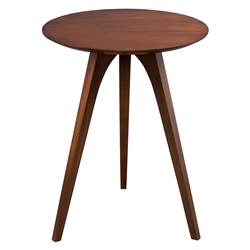Martin Modern Strata Walnut Round End Table by Saloom