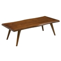 Martin Modern Wave Edge Walnut Cocktail Table by Saloom