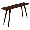 Martin Modern Wave Edge Walnut Console Table by Saloom