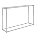 Marty Brushed Aluminum Modern Console Table