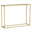 Marty Brushed Gold Steel Modern Console Table