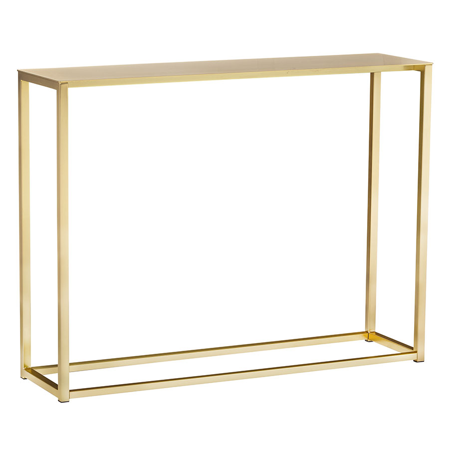 Call To Order · Marty Brushed Gold Steel Modern Console Table