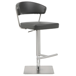 Maureen Modern Dark Gray Adjustable Stool by Whiteline