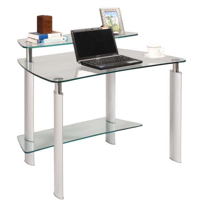 and modern glass desk of image perfect metal computer writing lustwithalaugh the design