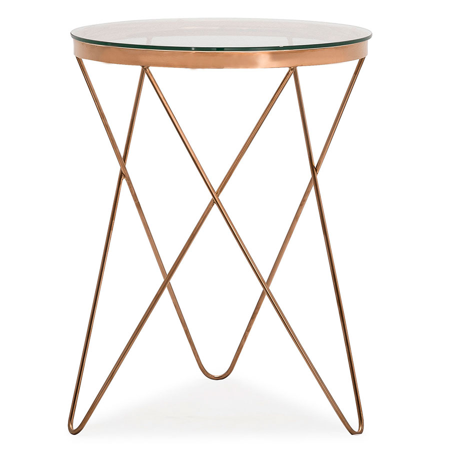 modern end tables. Call To Order · Masterson Rose Gold Metal + Glass Contemporary European Side Table Modern End Tables E