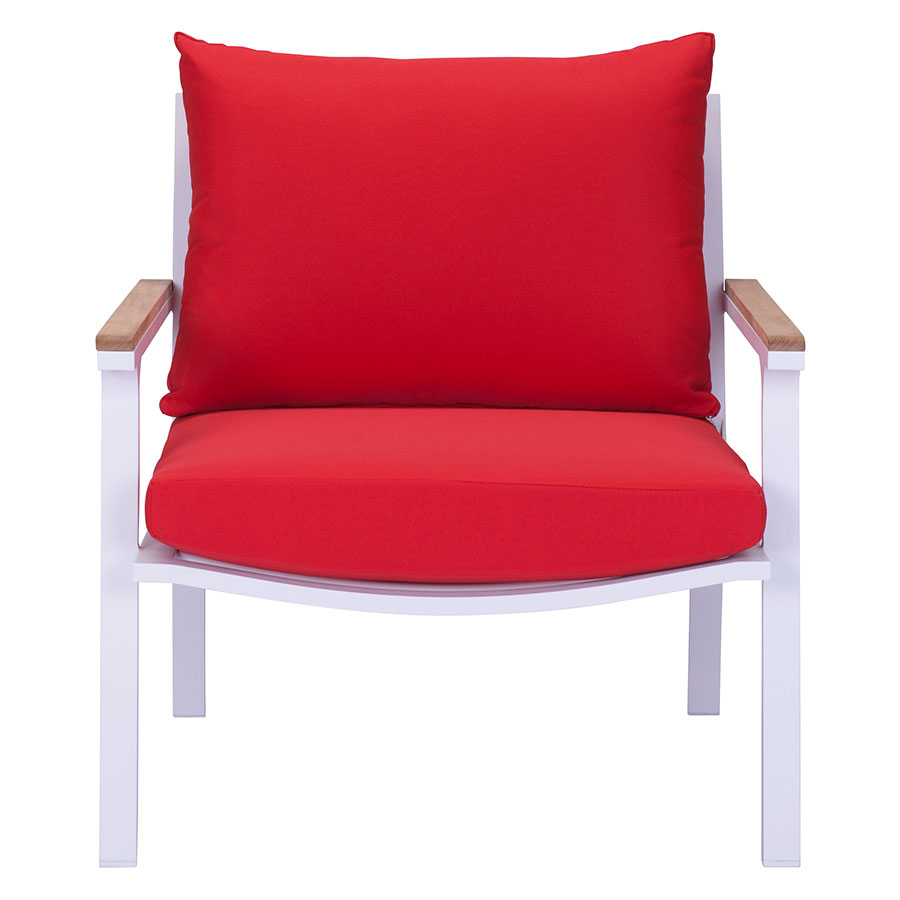 matthew red modern outdoor lounge chair  eurway -  matthew red contemporary outdoor lounge chair