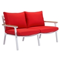 Matthew Red Modern Outdoor Sofa