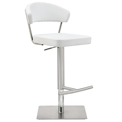 Maureen Modern White Adjustable Stool by Whiteline