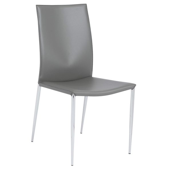 Max Modern Gray Side Chair by Euro Style