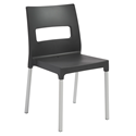 Maxi Anthracite Modern Stacking Chair