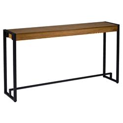 Maxim Modern Console Table in Black + Oak