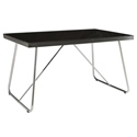 Maxwell Modern Black Glass Dining Table