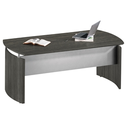 Maya Modern 72 Inch Desk in Gray Steel Laminate