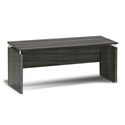 Maya Modern 72 Inch Narrow Desk in Gray