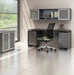 Maya Modern 72 in x 20 in Desk with Gray Finish
