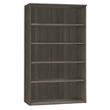 Maya Gray Woodgrain Modern Bookcase