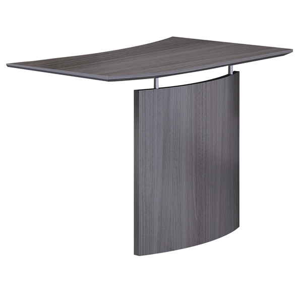 Maya Modern Left-Hand Bridge Desk Section