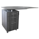 Maya Modern Left Return Desk and File Cabinet