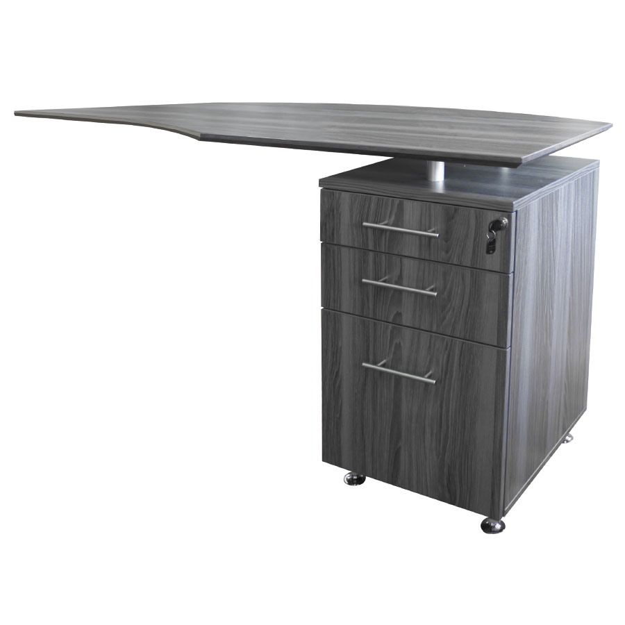 Maya Modern Right Return Desk and File Cabinet